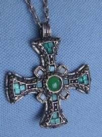 Anglo Saxon Cross Necklace - Vintage signed Miracle Jewellery (Sold)